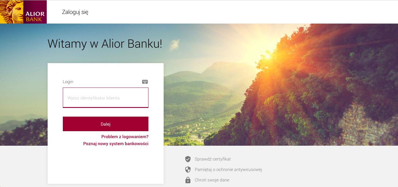 alior Bank logowanie indywidualny klient